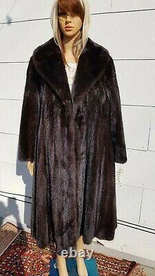 20 FAVS! Medium Large 42 Chest RANCH MINK Dark Brown Long Full-Length Ranch Fur