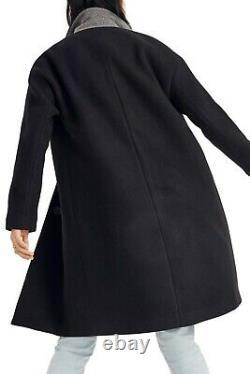 $330 MADEWELL Bergen Cocoon Coat ITALIAN WOOL BLEND BLACK ALL SEASON COZY J9109