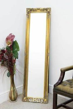 5Ft6 X 1Ft6 Large Gold Full Length Classic Ornate Decorative Cheval Mirror