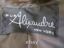 ALIXANDRE FURS blond beaver full length fur coat sz L