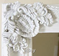 Abbey Large Full Length Shabby Chic Vintage Leaner Floor Mirror White 31 X 65