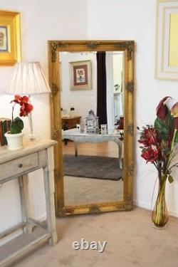 Abbey Large Gold Vintage Style Full Length Long Wall Mirror 165cm X 78cm