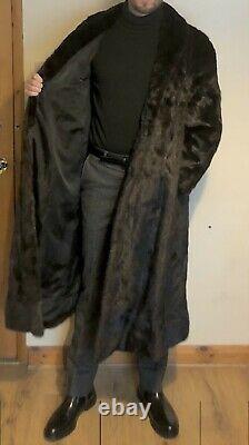 Amazing Men's Full Length Real Mink Fur Coat