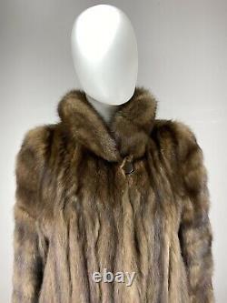 BARGUZIN Russian Sable Full Length Real Fur Coat Jacket Directional Sleeves