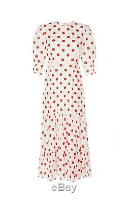 BNWT Rixo London Matilda Polk Dot Maxi Dress Sz M L