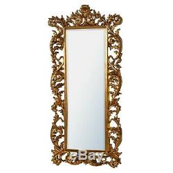 Baroque Large Full Length Mirror Gold Decorative Bevelled