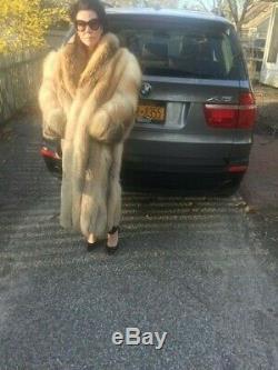 Beautiful Full Length Golden isle Fox Fur Coat