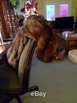 Beautiful Ladies Full Length Genuine RUSSIAN SABLE mink Fur Coat. Size L