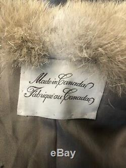 Canadian Coyote Fur Coat Full Length Great Condition Size Large
