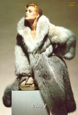 Christian Dior Fur Coyote Full Length Coat Large