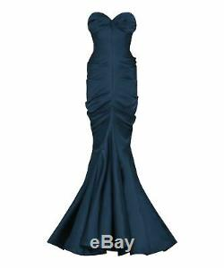 Christian Dior Haute Couture Silk Satin Corset Sculpted Gown Uk 12