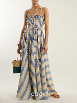 DODO BAR OR Pedro Tassel-Trim Cotton Maxi Dress L