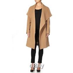 De La Creme Womens Winter Wool & Cashmere Wrap Coat With Large Collar