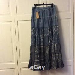 Denim & Supply Ralph Lauren Women's New Denim Chambray Maxi Skirt Size Large