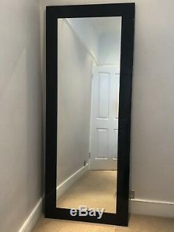 Dwell Large Mirror Black Gloss Full Length Mirror