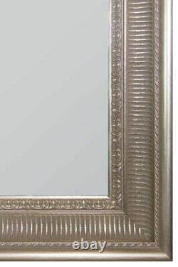Extra Large Antique Silverwall Wood Full Length mirror Long 200cm x 139cm