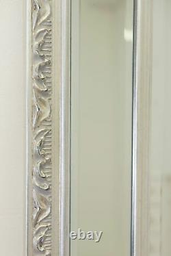 Extra Large Antique Vintage Full Length Glass wall Mirror 5ft7x2ft9 170cm x 84cm