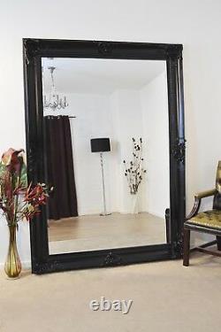 Extra Large Black Full Length Long Leaner Wall Mirror 7ft x 5ft 213 x 152cm