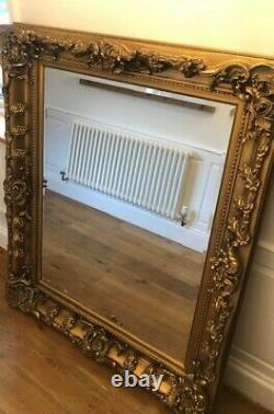 Extra Large Full Length Antique Gold Leaner Floor Mirror