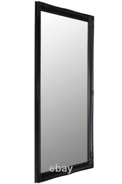 Extra Large Full Length Black Wall Mirror Antique 5Ft6 X 3Ft6 167cm X 106cm