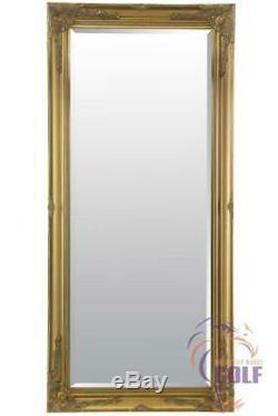 Extra Large Full Length Classic Ornate Styled Gold Mirror 5Ft7 X 2Ft7 (170X79cm)