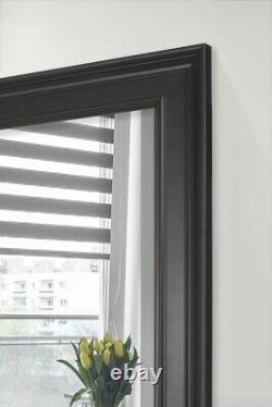 Extra Large Full Length Learner Wall Mirror Black 8Ft9 X 4Ft9 267cmx145cm