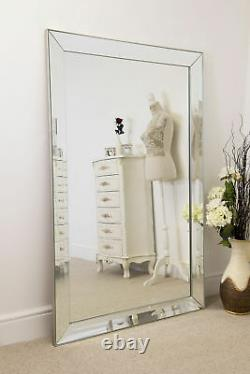 Extra Large Full Length Silver All glass Wall Mirror 5FT8 x 3FT8 172cm x 111cm
