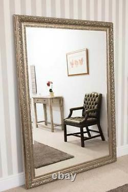 Extra Large Full Length Silver Bevelled Mirror 6ft10 X 4ft10 208cm X 147cm