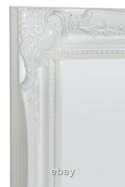 Extra Large Full Length White Wall Mirror Antique Vintage 5Ft6x2Ft6 165cm X 75cm