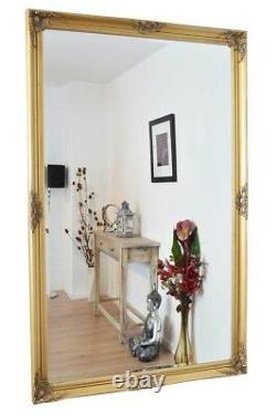 Extra Large Full length Gold Antique Dressing Wall Mirror Long 168cm X 107cm