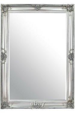 Extra Large Full length Silver Decorative Ornate Wall Mirror 213 x 152cm