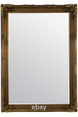 Extra Large Gold Antique Full Length Leaner Wall Mirror 208cm x 148cm