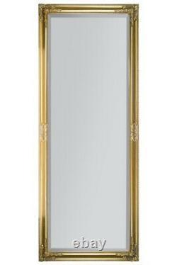 Extra Large Gold Antique Vintage Full Length Mirror 6ft X 2ft4 180cm X 70cm