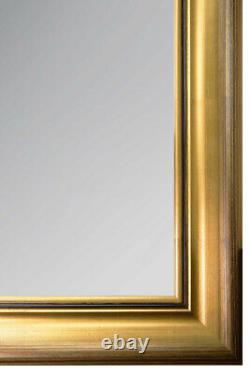 Extra Large Gold Black Modern Chic Full Length Wall Mirror 5ft6x3ft6 167x106cm