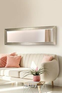 Extra Large Silver Full Length Mirror Long Bevelled Mirror Glass 150CM X 50CM
