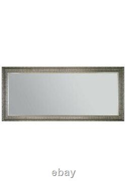 Extra Large Silver Wall Mirror Antique Vintage Full Length 165x75cm 5ft6 X 2ft6