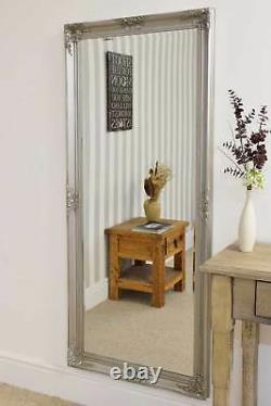 Extra Large Wall Antique Silver Mirror Full Length Framed 5ft6x2ft6 165x76cm