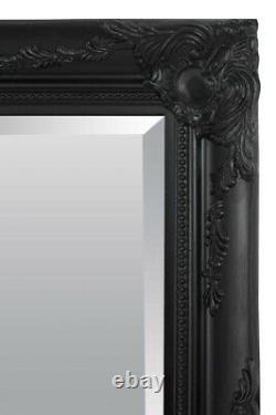 Extra Large Wall Mirror Black Antique Vintage Full Length 5Ft7 X 2Ft7 170 X 79cm