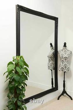 Extra Large Wall Mirror Black Antique Vintage Full Length 6Ft7x4Ft7 201 x 140cm