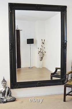 Extra Large Wall Mirror Black Decorative Antique Full Length 7ftx5ft 213x152cm