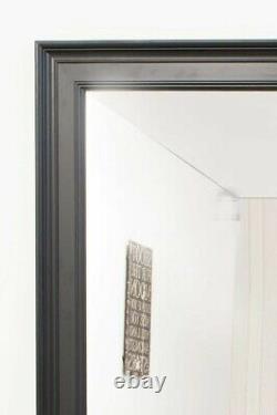 Extra Large Wall Mirror Black Framed Modern Full Length 6Ft 9 X 4Ft 9 206x145cm