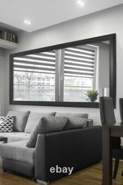 Extra Large Wall Mirror Black Framed Modern Full Length 8Ft9 X 4Ft9 267x145cm