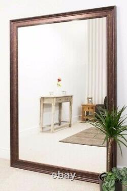 Extra Large Wall Mirror Bronze Framed Modern Full Length 6ft9 x 4ft9 206x145cm