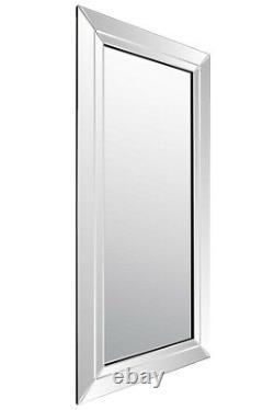 Extra Large Wall Mirror Full Length Silver Frameless 5Ft9 X 2F9 174cm x 85cm