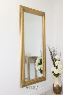 Extra Large Wall Mirror Gold Antique Vintage Full Length 5Ft10x2Ft10 178 X 87cm