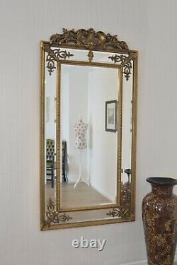 Extra Large Wall Mirror Gold Antique Vintage Full Length 6Ft X 3Ft 183cm X 92cm