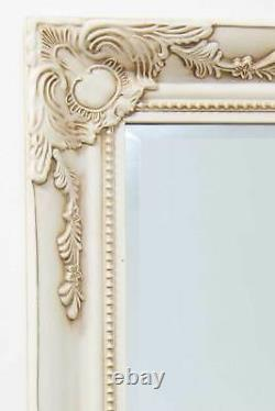 Extra Large Wall Mirror Ivory Antique Vintage Full Length 5Ft7 X 2Ft7 170cmx79cm