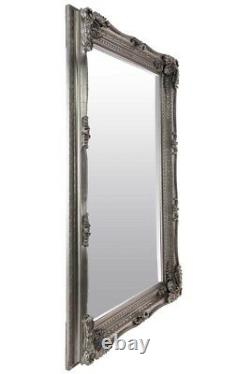 Extra Large Wall Mirror Silver Antique Vintage Full Length 4Ft1x6Ft1 1235x185cm