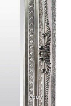 Extra Large Wall Mirror Silver Antique Vintage Full Length 5Ft1x7Ft1 154 x 215cm
