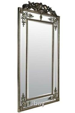 Extra Large Wall Mirror Silver Antique Vintage Full Length 6Ft X 3Ft 183cm X